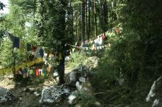Gebetsfahnen im Wind - für eine Befreiung Tibets und die Rettung von Familienangehörigen und Freunden
